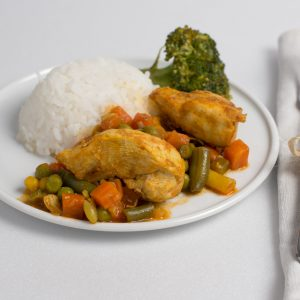 Fotografie alimentara, Pui cu legume si orez